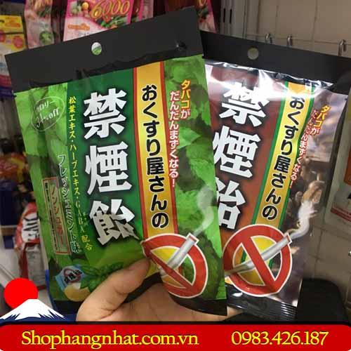 Kẹo cai thuốc lá thảo mộc Nhật Bản chính hãng