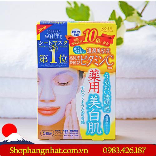 Mặt nạ Collagen Kose Q10 trắng da 5 miếng