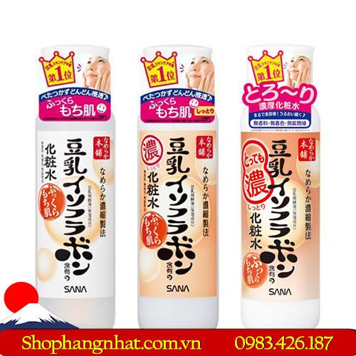 Nước hoa hồng đậu nành Sana Namekara Isoflavone dưỡng ẩm da
