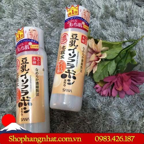 Nước hoa hồng đậu nành Sana Namekara Isoflavone Nhật Bản