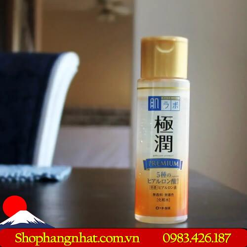 Nước hoa hồng Hada Labo Gokujyun Premium Hyaluronic Acid 170ml dưỡng ẩm đặc biệt