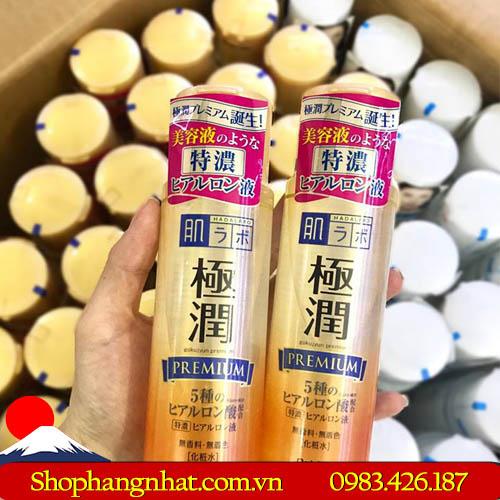 Nước hoa hồng Hada Labo Gokujyun Premium Hyaluronic Acid Nhật Bản dưỡng ẩm đặc biệt