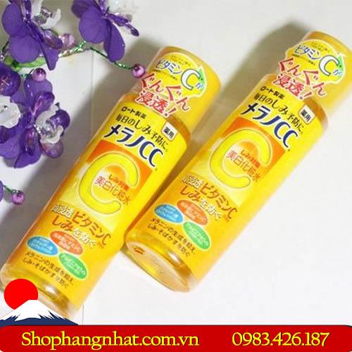 Nước hoa hồng Rohto Melano CC Lotion Rohto Nhật Bản vitamin C 170ml
