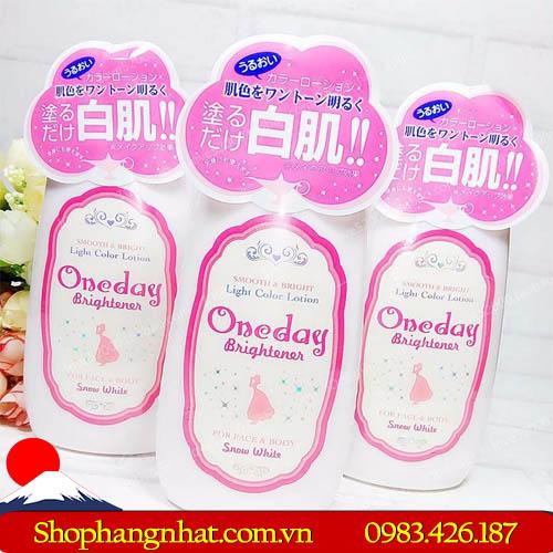 Sữa trang điểm Lotion One Day Brightener Nhật Bản