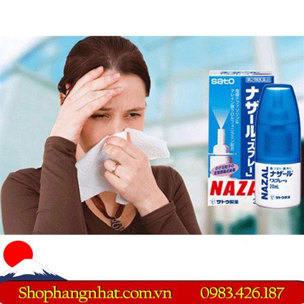 Thuốc Xịt mũi Nazal Sato đặc trị viêm xoang