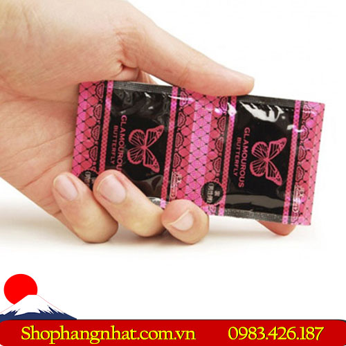 Bao Cao Su Glamourour Butterfly Moist Type cao cấp