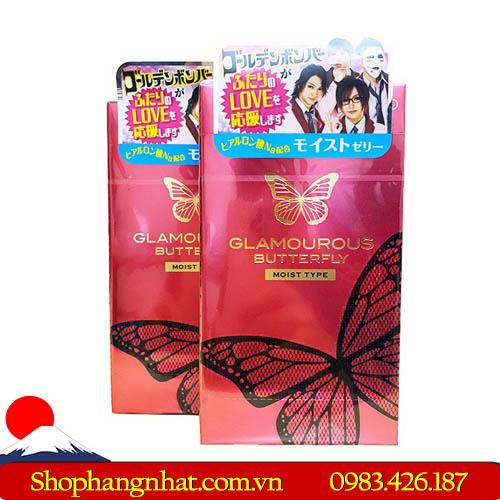Bao Cao Su Glamourour Butterfly Moist Type Nhật Bản siêu mỏng cao cấp