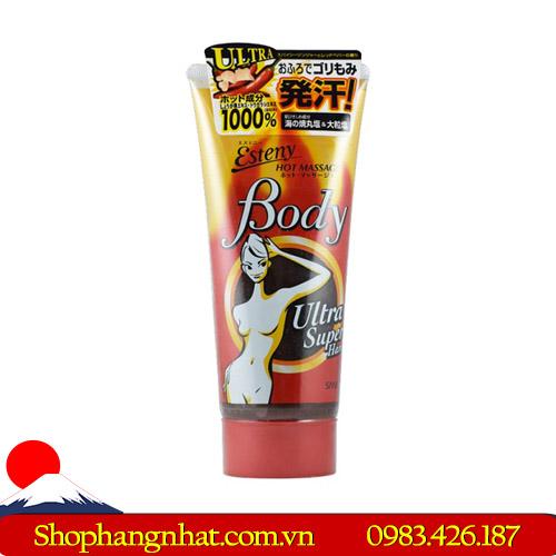 Kem tan mỡ Esteny Body Hot Massage Gel dạng gel 240g