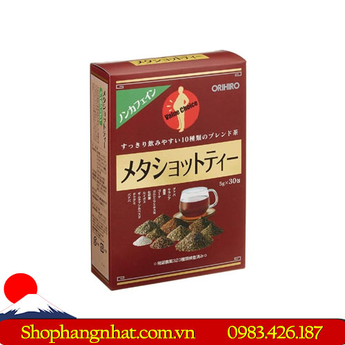 Trà Giảm Cân Meta Shot Tea Orihiro chính hãng 2019