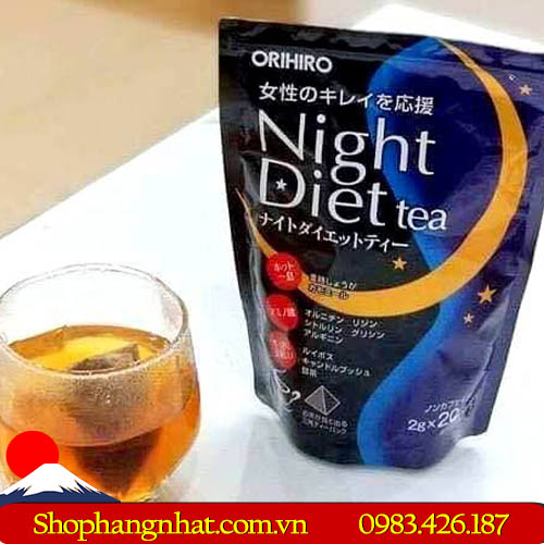 Trà giảm cân Night Diet Tea Orihiro chính hãng 2019