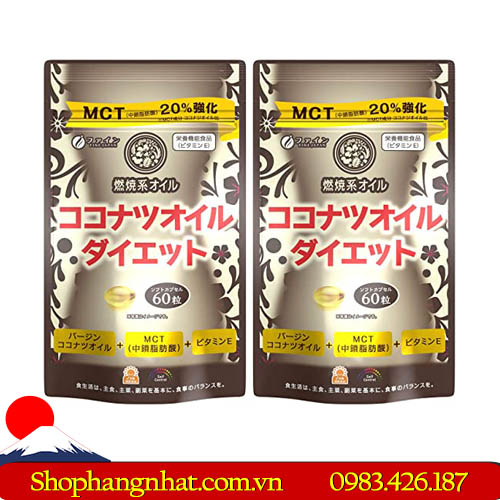 Viên uống Giảm Cân MCT Coconut Oil Diet 60 viênViên uống Giảm Cân MCT Coconut Oil Diet 60 viên