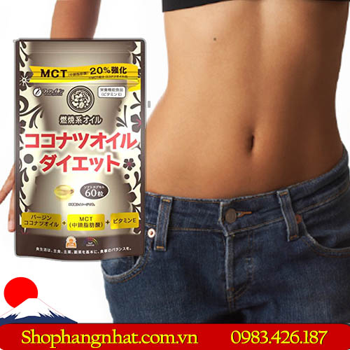 Viên uống Giảm Cân MCT Coconut Oil Diet dầu dừa 60 viên