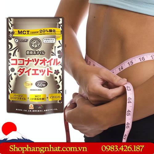 Viên uống Giảm Cân MCT Coconut Oil Diet Nhật Bản dầu dừa 60 viên