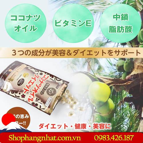 Viên uống Giảm Cân MCT Coconut Oil Diet