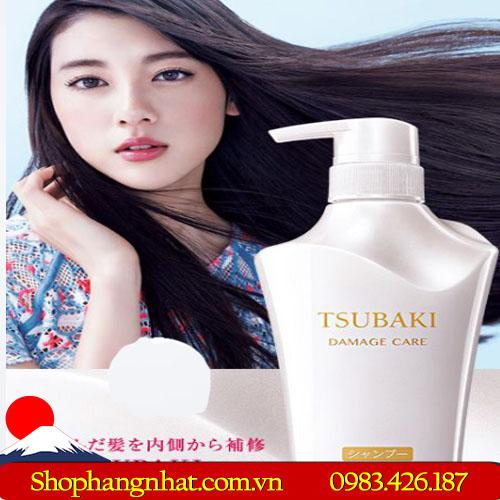 Dầu gội và dầu xả Shiseido Tsubaki trắng Nhật Bản