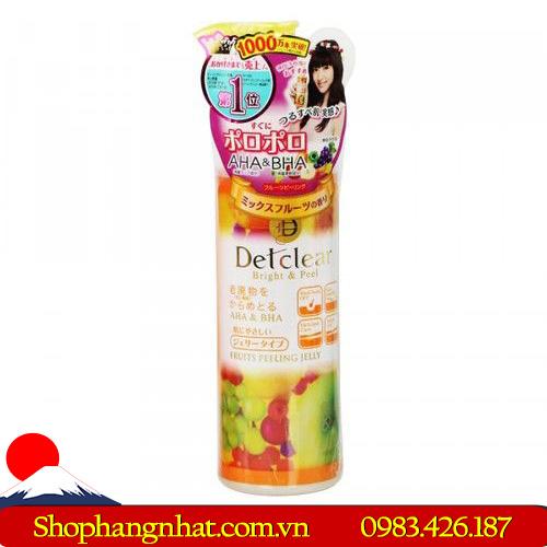 Gel Tẩy Tế Bào Chết Detclear Meishoku giữ độ ẩm 180ml