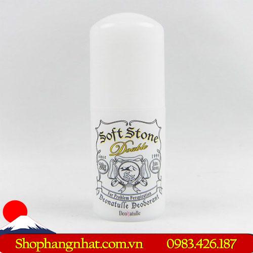 Lăn khử mùi đá khoáng Soft Stone Deonatulle Nhật Bản Thỏi 20g giảm tiết mồ hôi
