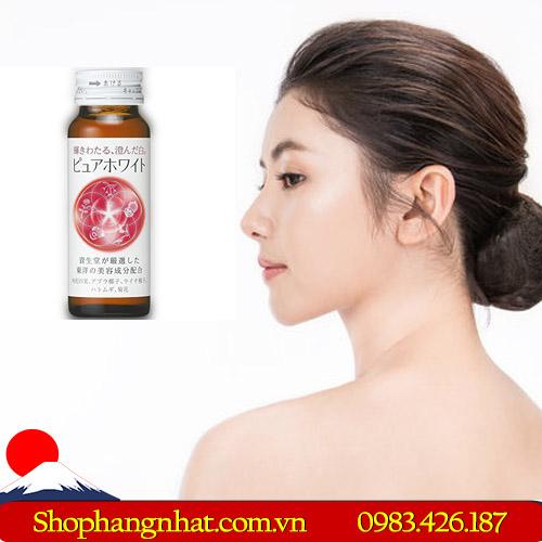 Nước uống Shiseido Collagen Pure White Nhật Bản trắng da 50 ml