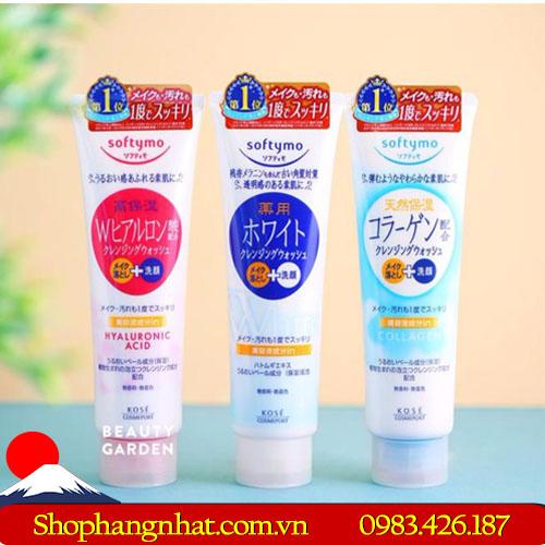 Sữa Rửa Mặt Kose Softymo cấp ẩm 190g