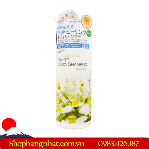 Sữa tắm Manis White Body Shampoo 450ml