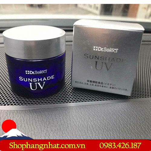 Viên thuốc chống nắng cao cấp Dr Select Nhật Bản Sunshade UV dưỡng ẩm dưỡng trắng da Hộp 30 viên
