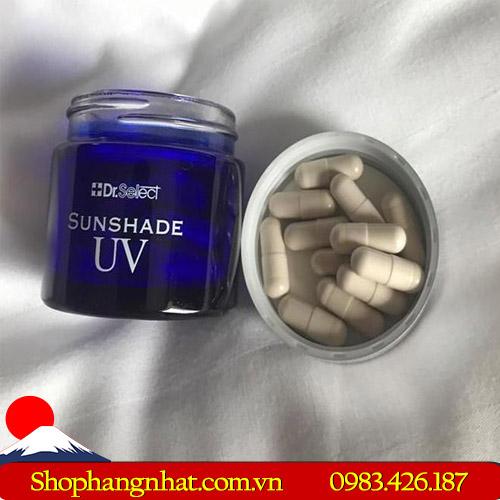 Viên thuốc chống nắng cao cấp Dr Select Nhật Bản Sunshade UV dưỡng ẩm dưỡng trắng da