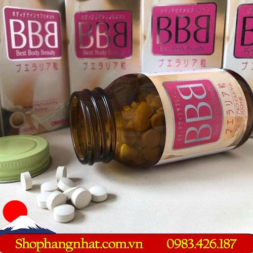 Viên uống Best Body Beauty BBB Orihiro