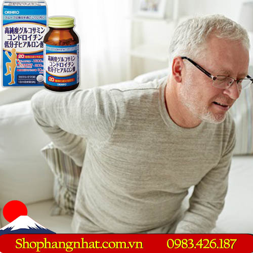 Viên uống bổ xương khớp Glucosamine Chondroitin Hyaluronic Acid Nhật Bản 270 viên