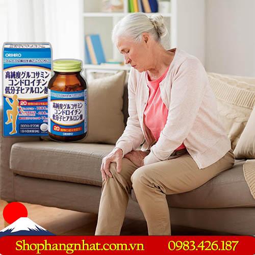 Viên uống bổ xương khớp Glucosamine Chondroitin Hyaluronic Acid Orihiro 270 viên
