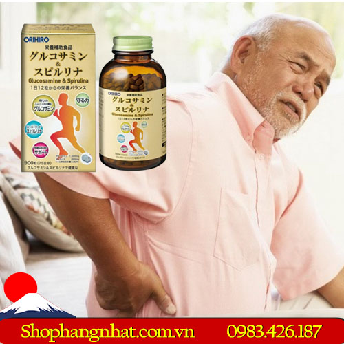 Viên uống bổ xương khớp Glucosamine & Spirulina Nhật Bản 900 viên