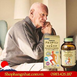 Viên uống bổ xương khớp Glucosamine & Spirulina Orihiro