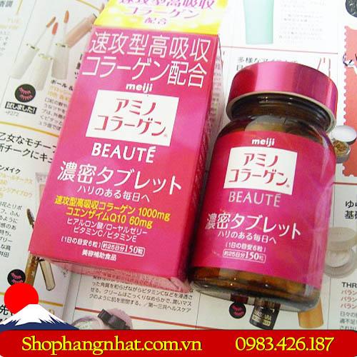 Viên uống Collagen Meiji Beaute chống lão hoá 150 viên