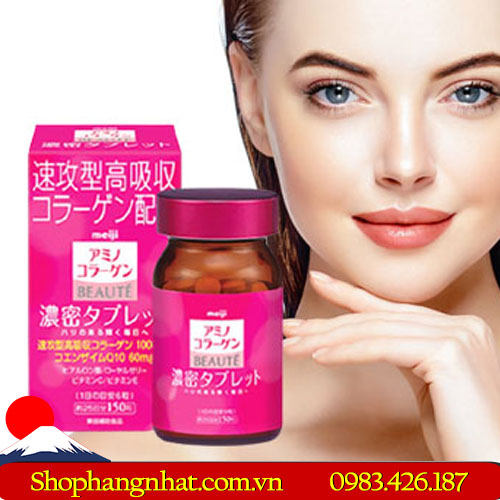 Viên uống Collagen Meiji Beaute Nhật Bản chống lão hoá 150 viên
