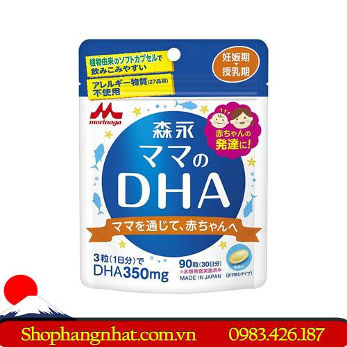 Viên uống lợi sữa DHA Morinaga Nhật Bản dành cho bà bầu