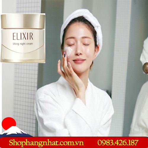 Kem dưỡng da ban đêm Nhật Bản shiseido elixir lifting