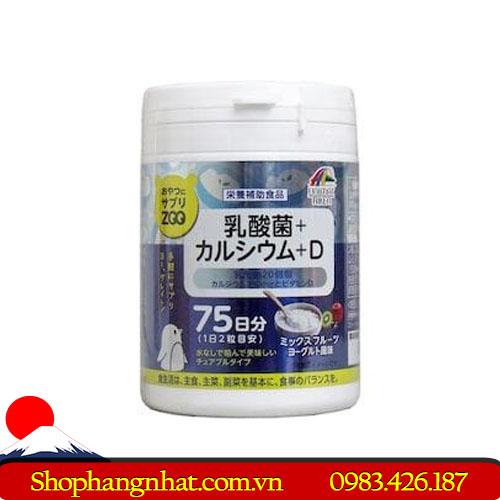 Kẹo bổ sung Canxi và Vitamin D Unimat Riken Nhật Bản theo hộp 75 viên