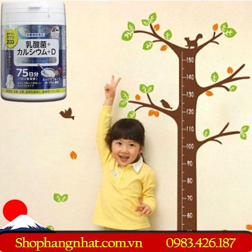 Kẹo bổ sung Canxi và Vitamin D Unimat Riken Nhật Bản theo hộp