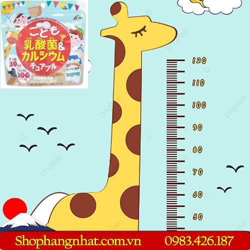 Kẹo Unimat Riken Nhật Bản Canxi và Vitamin D 75 viên