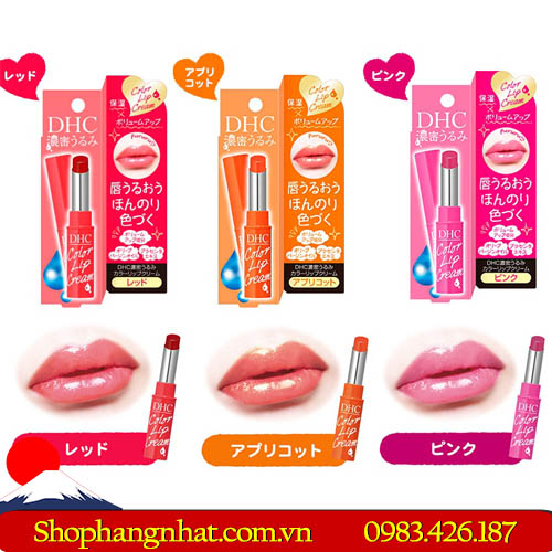Son dưỡng môi DHC Color Lip Cream đẹp tự nhiên