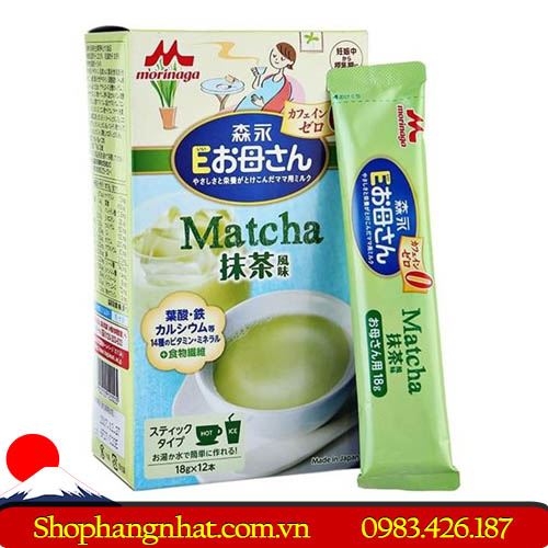 Sữa bầu Morigana Nhật Bản 12 gói 216g