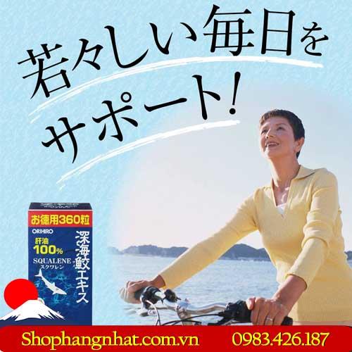 Sụn vi Cá Mập Squalene Orihiro Nhật Bản chính hãng Dạng viên