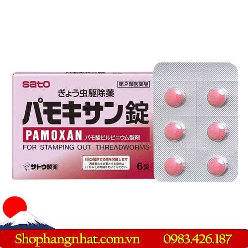 Thuốc tẩy giun Pamoxan Sato an toàn hộp 6 viên