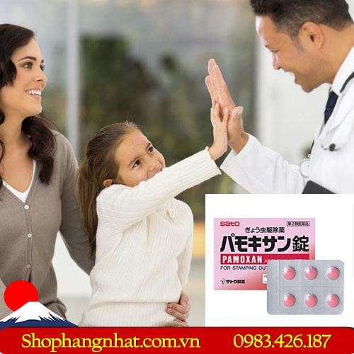 Thuốc tẩy giun Pamoxan Sato Nhật Bản an toàn