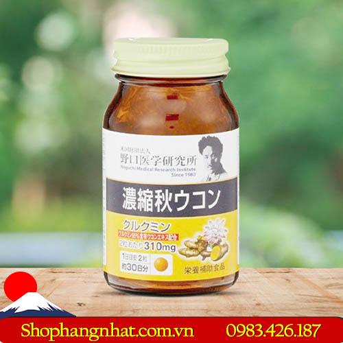 Viên uống chiết xuất nghệ Aki Meiji Ukon hệ tiêu hóa 60 viên