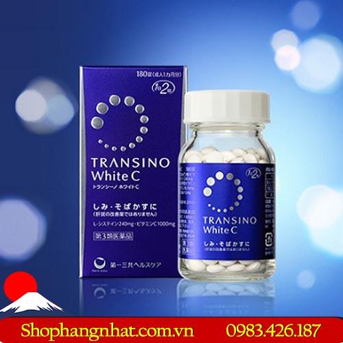 Viên uống dưỡng da Transino white C 120 viên