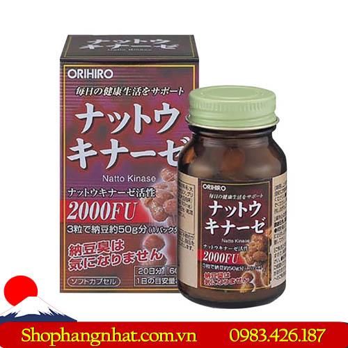 Viên uống Nattokinase 2000FU điều trị tai biến 60 viên