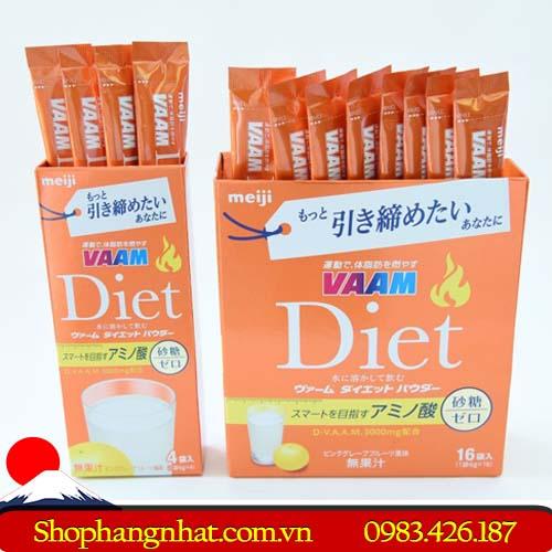 Sữa giảm cân cho người tập gym Diet VAAM chính hãng 16 gói
