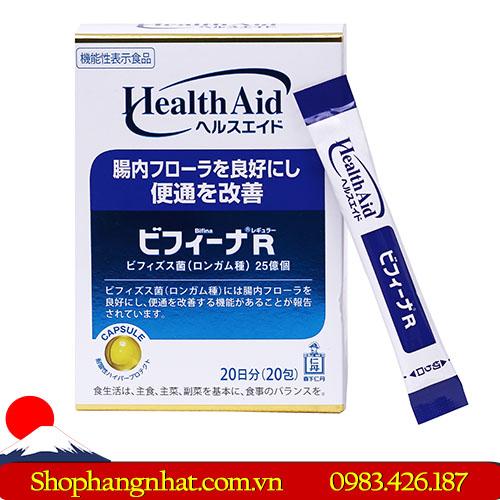 Men vi sinh Bifina R Nhật Bản hộp 20 gói ổn định đường ruột và hệ tiêu hóa.