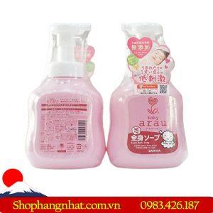 Sữa tắm gội Arau Baby Nhật Bản 450ml