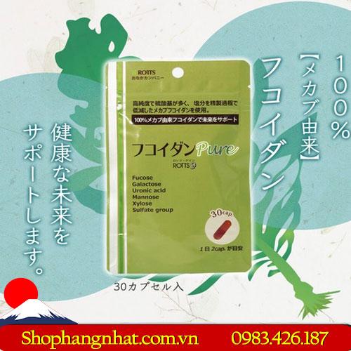 Viên uống chữa ung thư Fucoidan Pure Nhật Bản